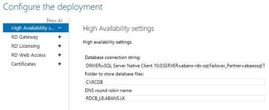 Remote desktop connection broker logon to the database failed