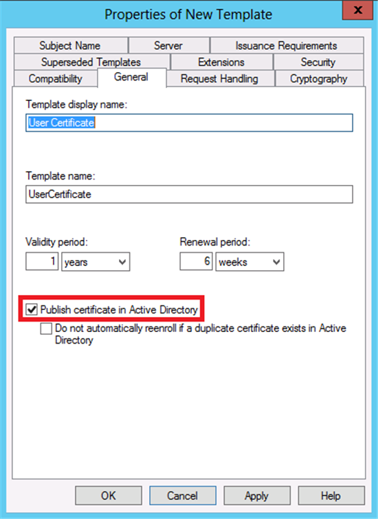 the certificate can then be used to encrypt email or files to the user whose certificate is published in the ad ds database