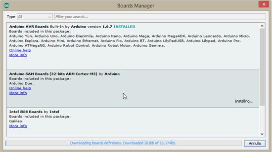 Arduino sam boards download