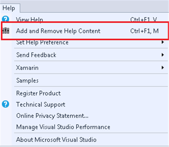 visual studio 2017 getting started with help viewer technet