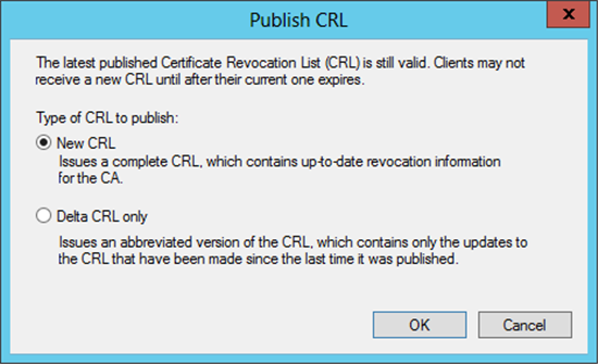 Troubleshooting fim cm certificate request error denied by publishing a new crl yadclub Image collections