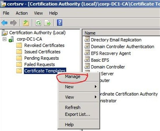 Manage in Certificates Console