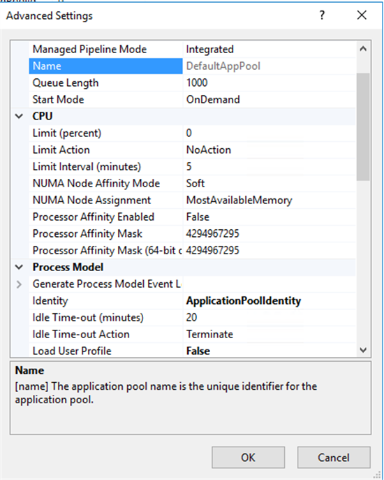 SP2016 Application Pool Issue - TechNet Articles - United