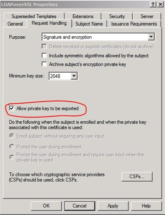 Allow private key to be exported