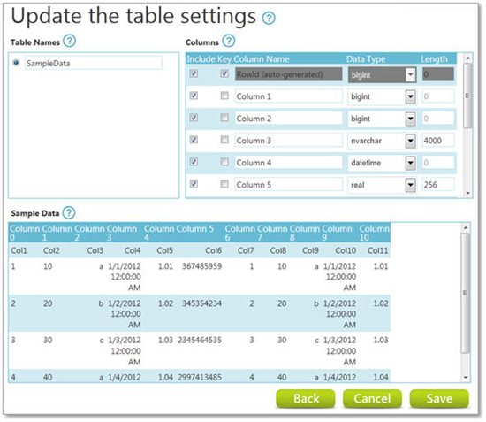 Microsoft codename data transfer tutorial technet for Sql update table