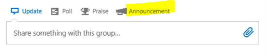 Yammer: Announcements Feature - TechNet Articles - United States (English) - TechNet Wiki