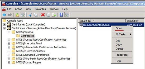 LDAPS Certificate