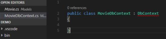 Create db context class