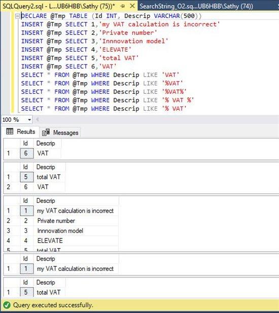 T-SQL : Search for string or phrase in SQL Server database