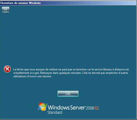 Windows Server: Remote Desktop Error: The task you are trying to do