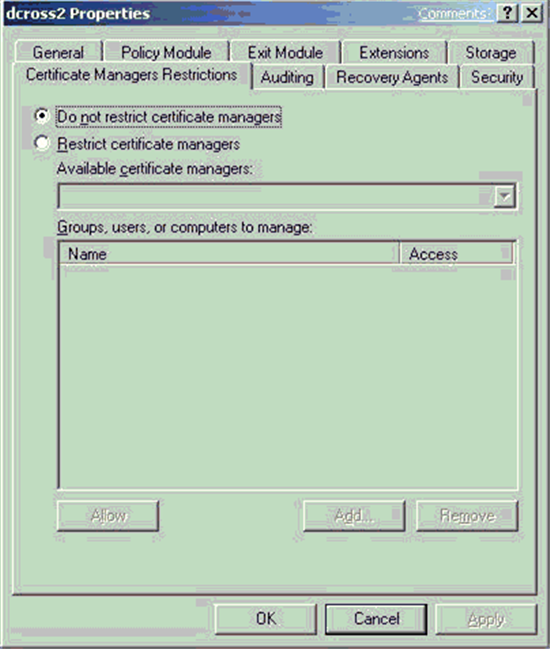 Active directory certificate services pki key archival and configuring certificate managers yadclub Choice Image