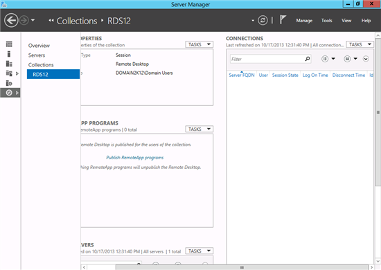Management (how to) changes for RDS in Windows Server 2012 and 2012R2 - TechNet Articles