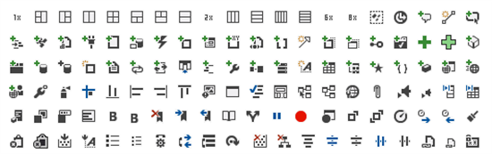 Samples of Visual Studio Image Library icons of category Common Elements