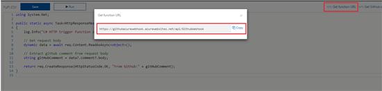 Invoke Azure Functions Using Github Webhook - TechNet