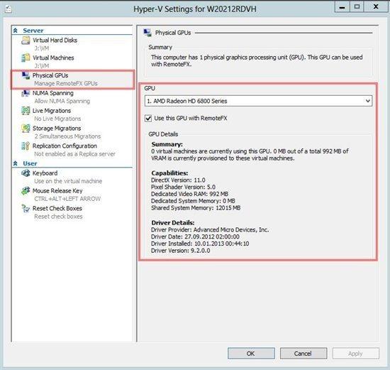 RemoteFX vGPU Setup and Configuration Guide for Windows