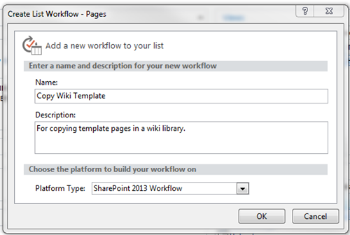sharepoint workflow templates download - creating a workflow for copying sharepoint wiki page