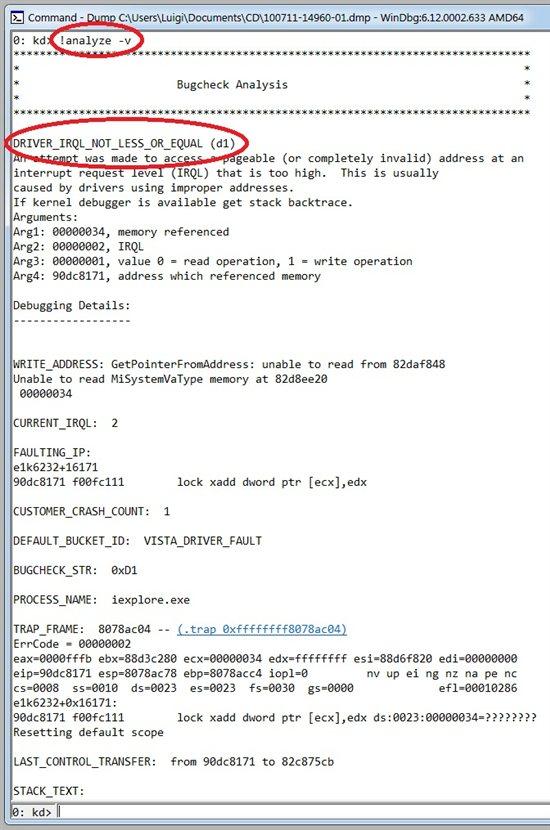 Windows Bugcheck Analysis - TechNet Articles - United States