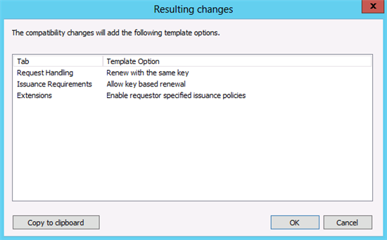 Certificate template version 2 version 3 choice image windows server 2012 certificate template versions and options the compatibility tab does not have a restrictive yadclub Images