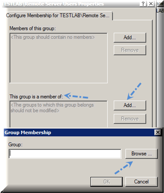 Adding an Individual Member to a Domain Group