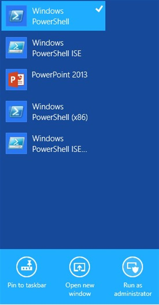 how to use powershell in windows 8