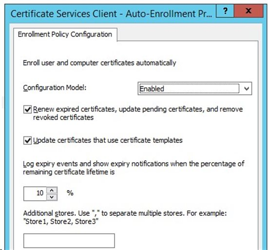 Certificate autoenrollment technet articles united states browse to computer configuration windows settings security settings public key policies certificate services client auto enrollment yadclub Images