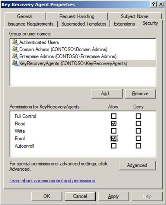 Active directory certificate services pki key archival and configuring the certificate templates yadclub Images