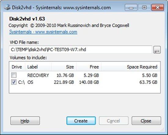 Hyper-V: P2V with Disk2VHD - TechNet Articles - United