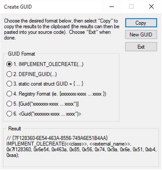 guidgen.exe tool