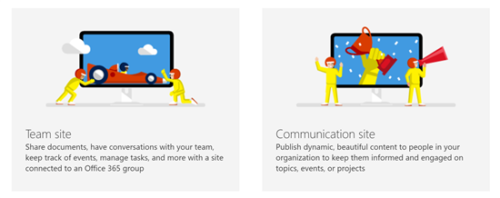 SharePoint Online Differences between Communication and
