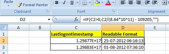 Active Directory: LastLogonTimeStamp Conversion - TechNet Articles