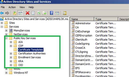 Ldaps636 and msft gc ssl3269 service technet articles united also you can see the adcs info using dssitec yelopaper Gallery