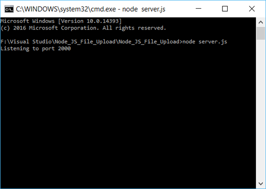 Visual Studio: Upload Files Or Images To Server Using Node JS