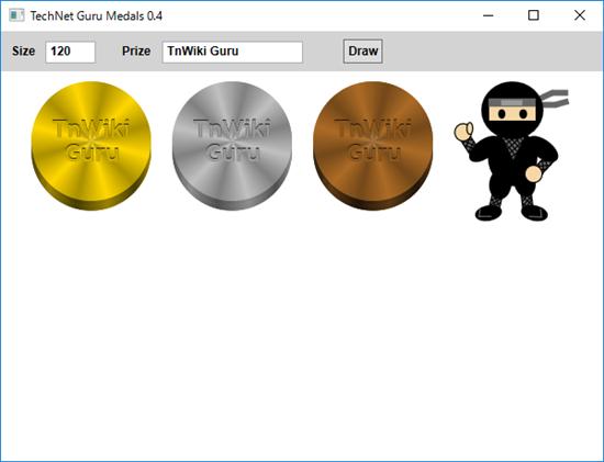Screen shot of a program TechNet Guru Medals 0.4