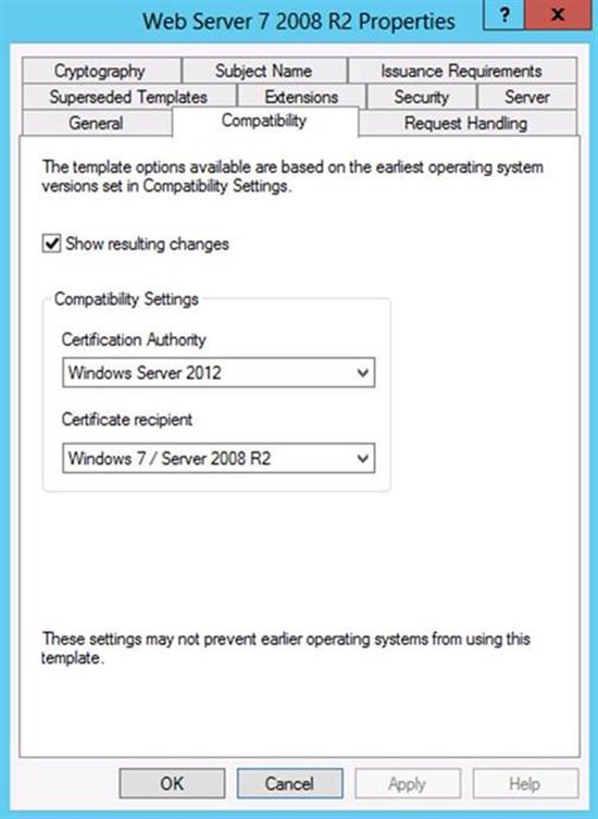 Certificate templates not available for windows 7 and windows instead the windows 7 or windows server 2008 r2 certificate client computers will only have the option to enroll for certificate templates that do not have yelopaper Image collections