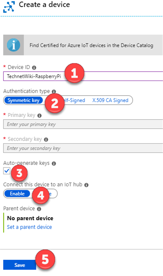Azure IoT: Connect Raspberry Pi Simulator to IoT Hub