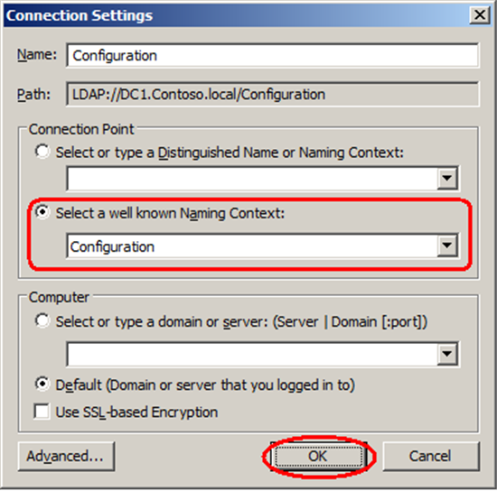 location of certificate templates in the configuration container