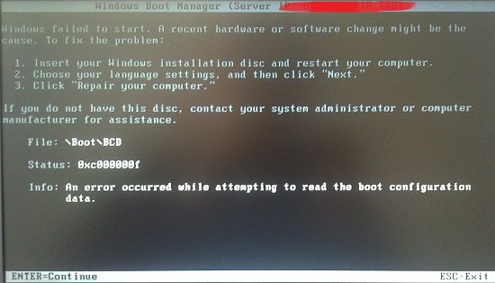 boot bcd windows 7