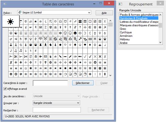 Small basic jeu de caract res unicode fr fr technet articles united states english - Table des caracteres windows ...