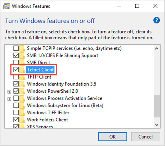 Windows 10: Enabling Telnet Client - TechNet Articles