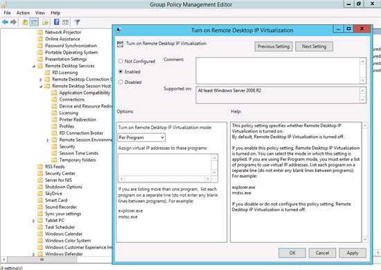 Management how to changes for rds in windows server 2012 and navigate to computer configuration administrative templates windows components remote desktop services remote desktop session host application yadclub Images