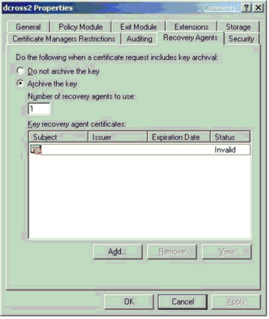 Active directory certificate services pki key archival and troubleshooting yadclub Choice Image