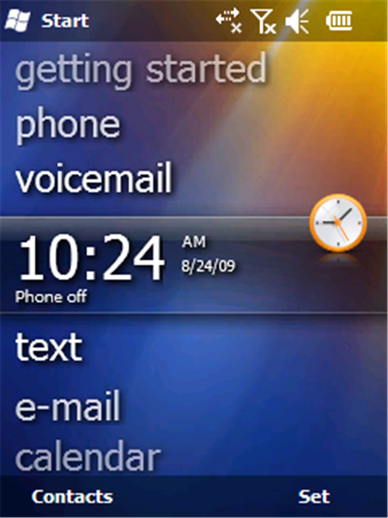 Windows Mobile 6.5 Today Screen