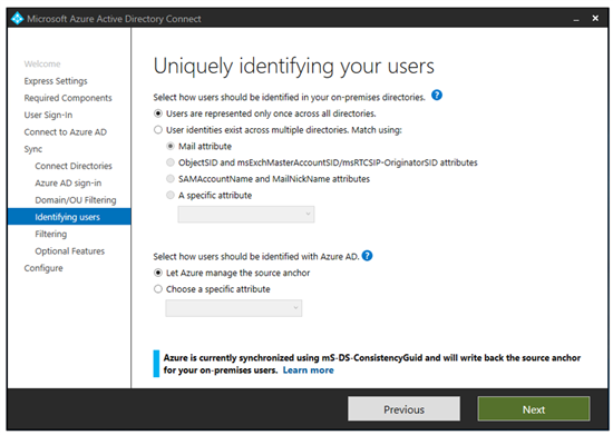 Azure AD Connect: User Consolidation - TechNet Articles
