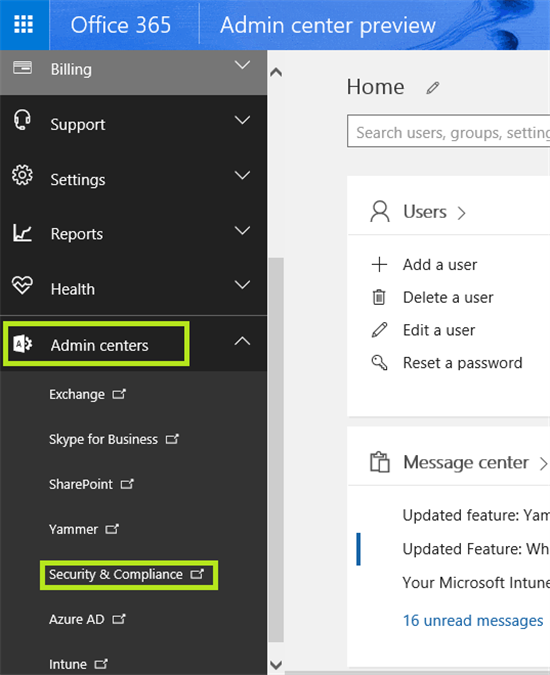 Office 365 Security And Compliance Center  How To Enable Audit Logs - Technet Articles