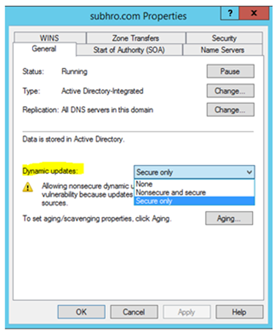 Windows Server : Integration between DNS and DHCP - TechNet