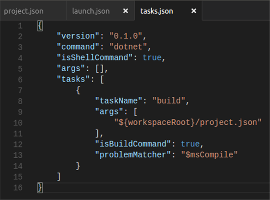 tasks.json file