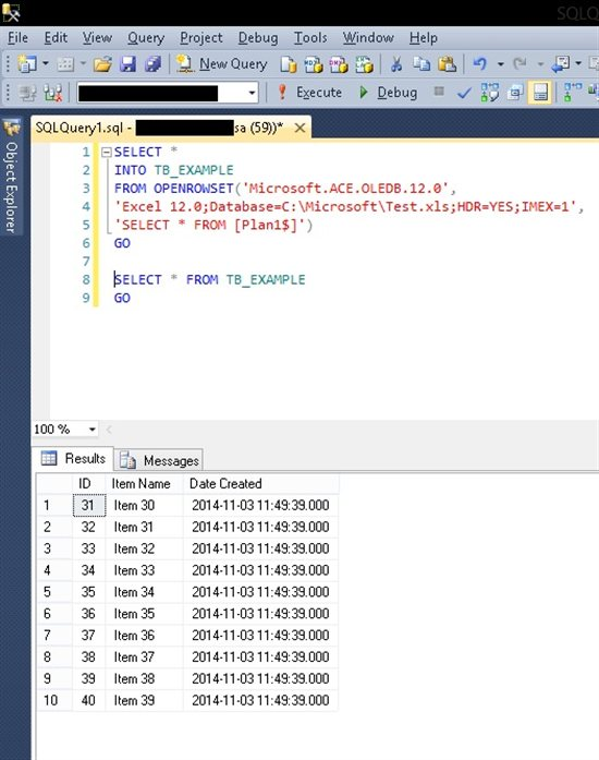SQL Queries add-in: the power of SQL to run queries in Excel and directly on Excel tables