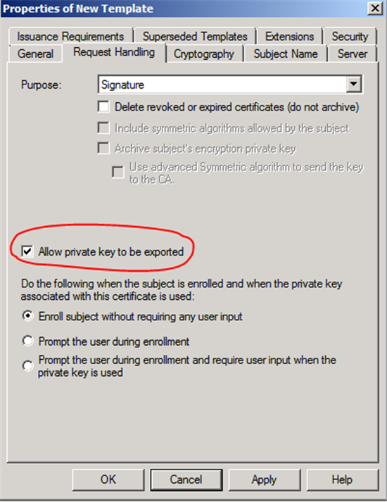Configuring certificate template a certificate could not be the client computer could potentially select the microsoft smart card key storage provider yadclub Choice Image