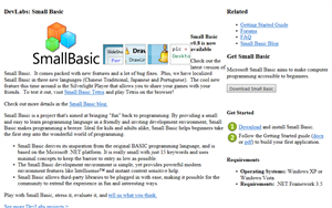 Small Basic Web 0.8 on 2010