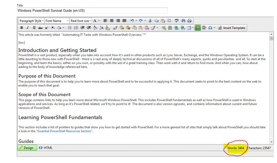wiki template for word